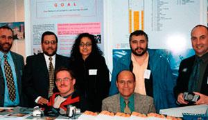 Participants at EXPOMIN in Santigo (Chile) 2004